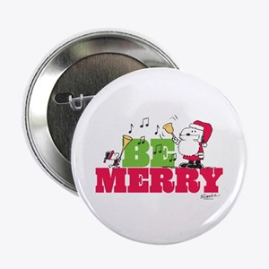 """Snoopy: Be Merry 2.25"""" Button"""