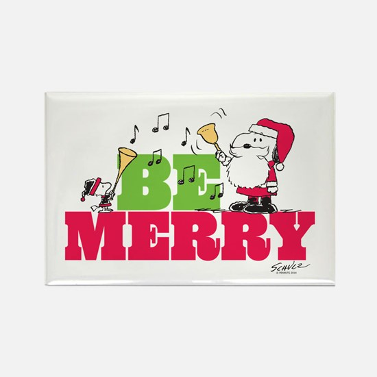Snoopy: Be Merry Rectangle Magnet