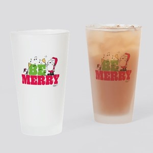 Snoopy: Be Merry Drinking Glass
