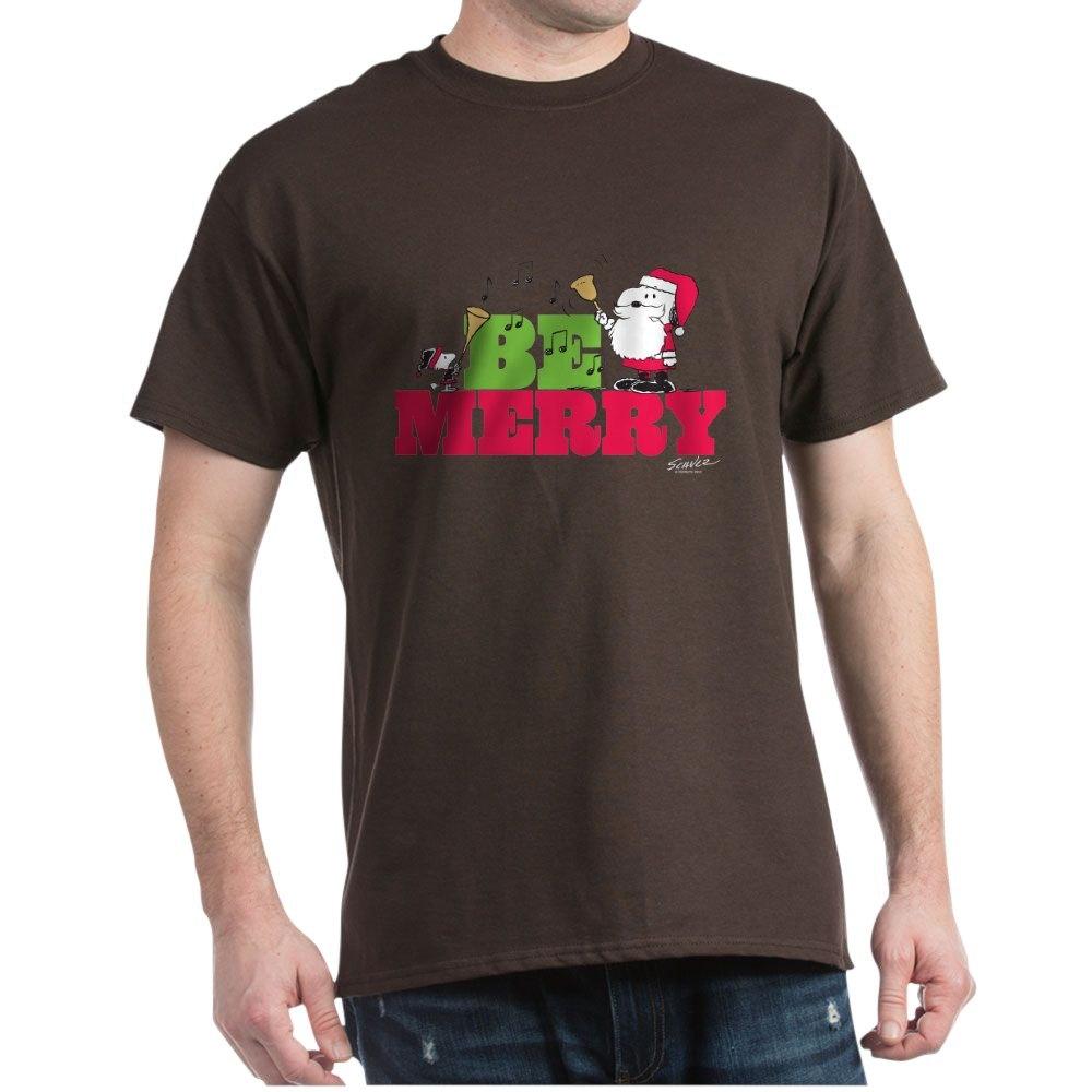 CafePress-Snoopy-Be-Merry-Dark-T-Shirt-100-Cotton-T-Shirt-1351490031 thumbnail 71