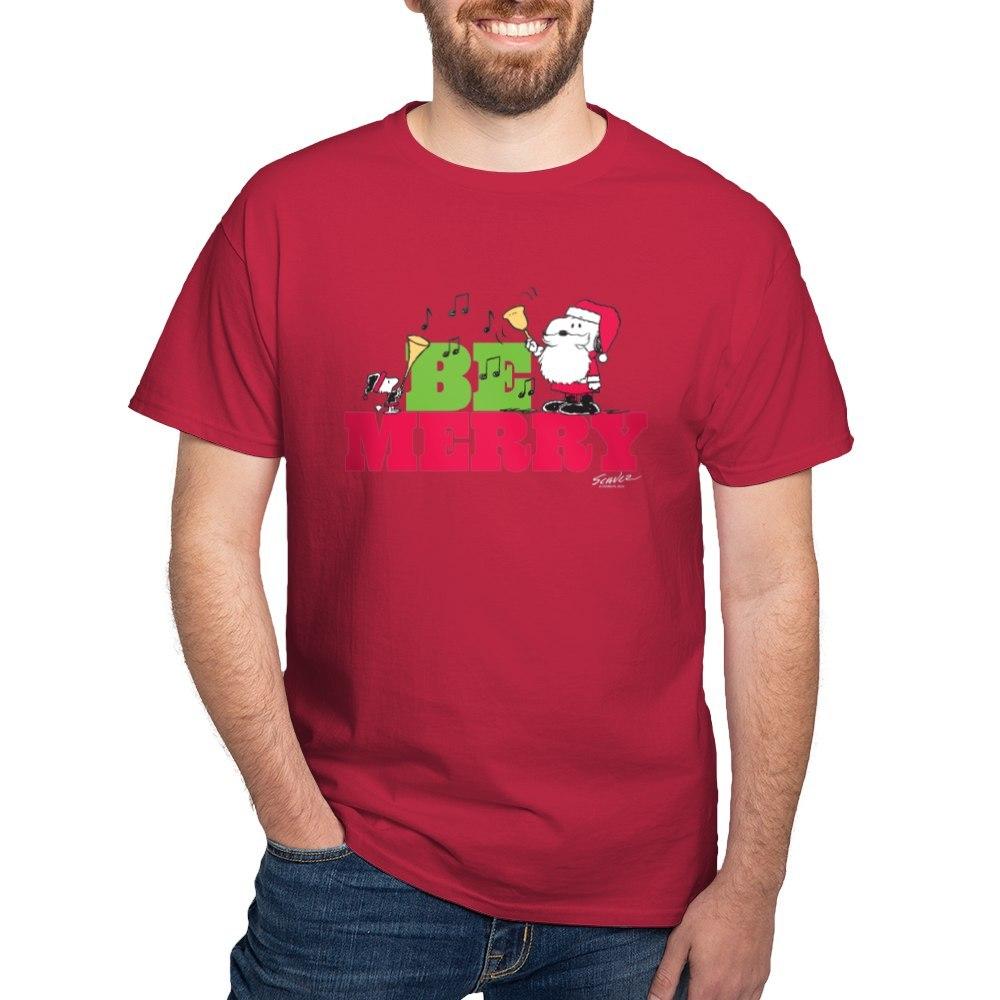 CafePress-Snoopy-Be-Merry-Dark-T-Shirt-100-Cotton-T-Shirt-1351490031 thumbnail 36