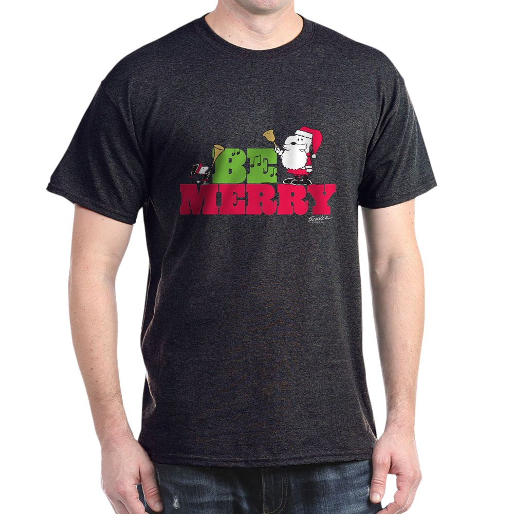CafePress-Snoopy-Be-Merry-Dark-T-Shirt-100-Cotton-T-Shirt-1351490031 thumbnail 90