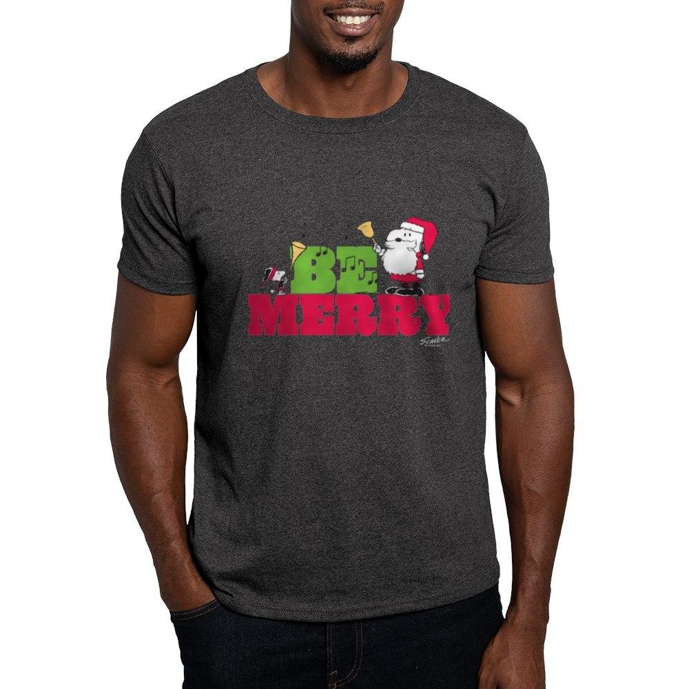 CafePress-Snoopy-Be-Merry-Dark-T-Shirt-100-Cotton-T-Shirt-1351490031 thumbnail 88