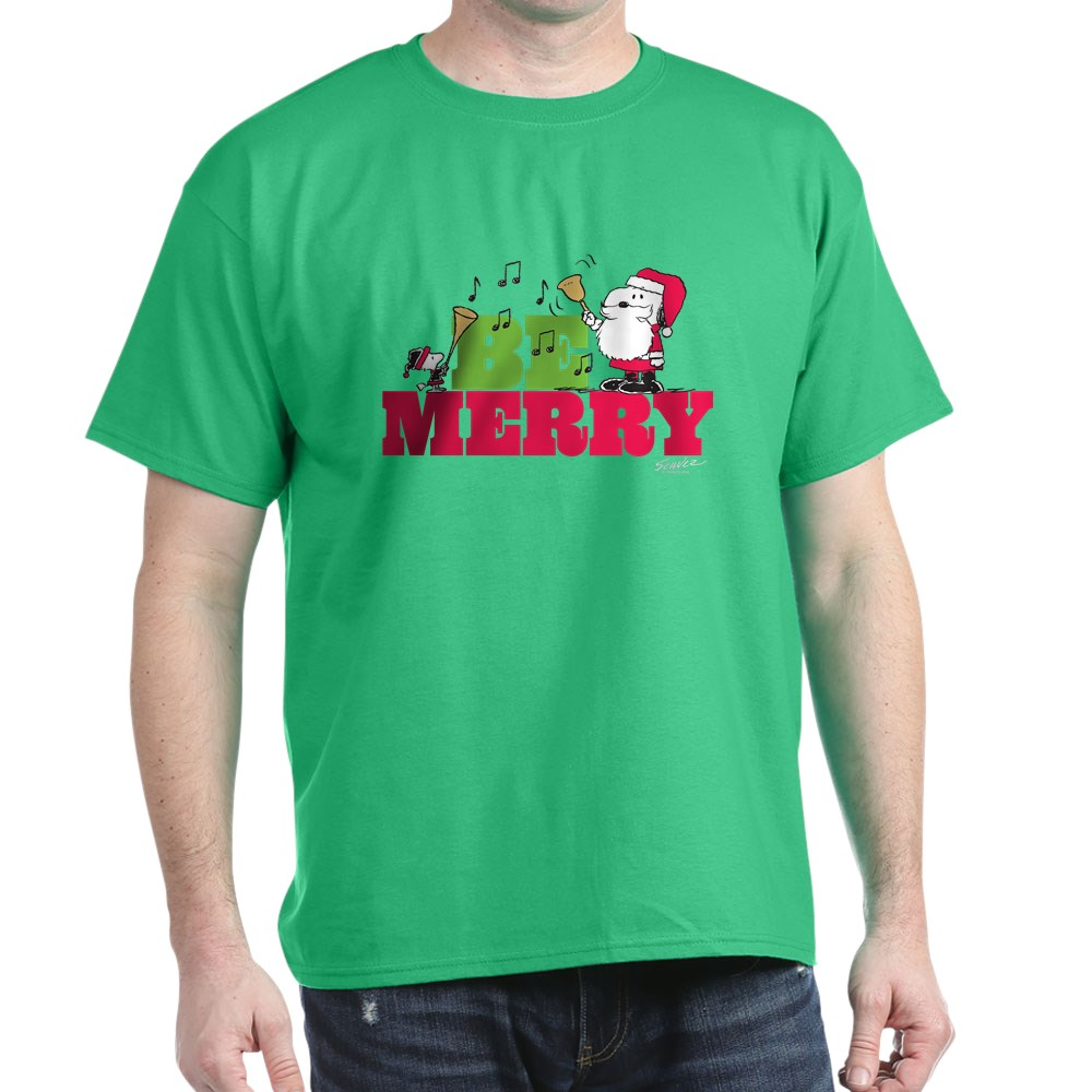 CafePress-Snoopy-Be-Merry-Dark-T-Shirt-100-Cotton-T-Shirt-1351490031 thumbnail 108