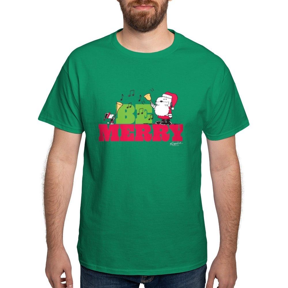 CafePress-Snoopy-Be-Merry-Dark-T-Shirt-100-Cotton-T-Shirt-1351490031 thumbnail 100