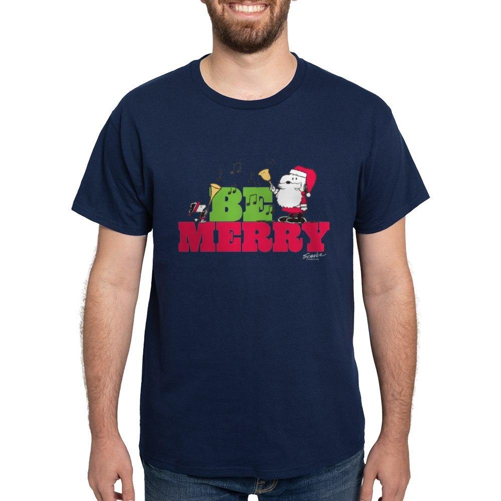 CafePress-Snoopy-Be-Merry-Dark-T-Shirt-100-Cotton-T-Shirt-1351490031 thumbnail 48