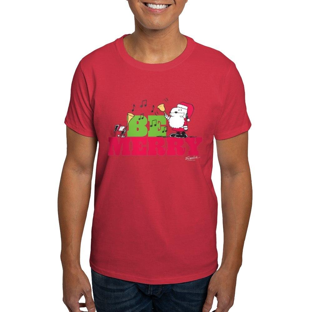 CafePress-Snoopy-Be-Merry-Dark-T-Shirt-100-Cotton-T-Shirt-1351490031 thumbnail 18