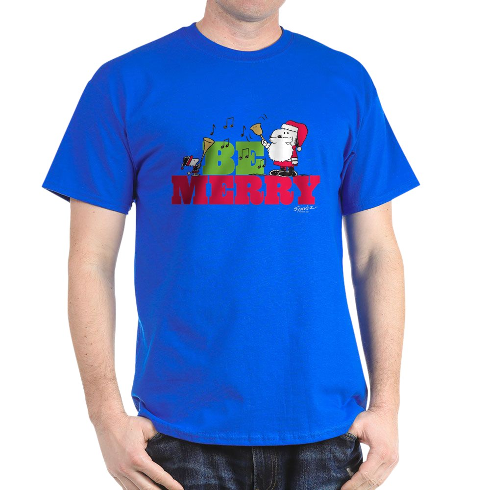 CafePress-Snoopy-Be-Merry-Dark-T-Shirt-100-Cotton-T-Shirt-1351490031 thumbnail 84
