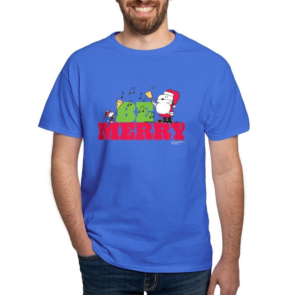 CafePress-Snoopy-Be-Merry-Dark-T-Shirt-100-Cotton-T-Shirt-1351490031 thumbnail 80