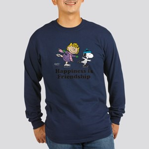 Happiness is Friendship Long Sleeve Dark T-Shirt