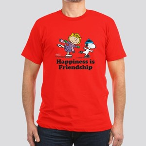 Happiness is Friendshi Men's Fitted T-Shirt (dark)
