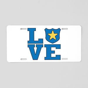 Love Law Enforcement Aluminum License Plate