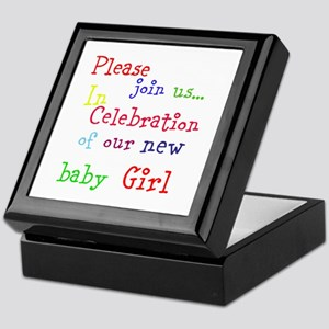Personalize Boy/Girl Join Us Keepsake Box