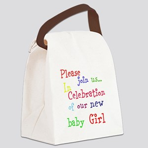 Personalize Boy/Girl Join Us Canvas Lunch Bag