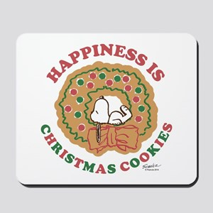 Snoopy:Hapiness is Christmas Cookies Mousepad