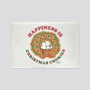 Snoopy:Hapiness is Christmas Cook Rectangle Magnet