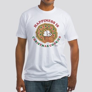 Snoopy:Hapiness is Christmas Cookie Fitted T-Shirt
