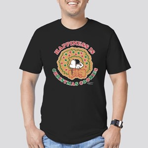 Snoopy:Hapiness is Chr Men's Fitted T-Shirt (dark)