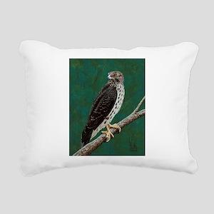 Cooper's Hawk: Rectangular Canvas Pillow