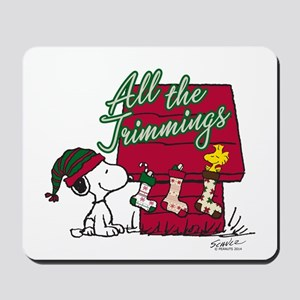 Snoopy: All the Trimmings Mousepad