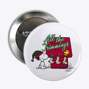 """Snoopy: All the Trimmings 2.25"""" Button"""