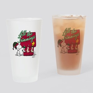 Snoopy: All the Trimmings Drinking Glass