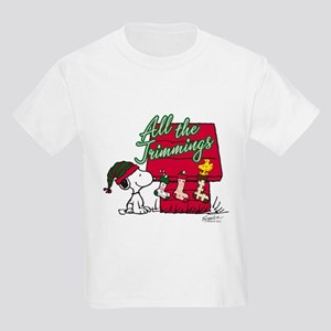 Snoopy: All the Trimmings Kids Light T-Shirt