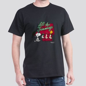 Snoopy: All the Trimmings Dark T-Shirt