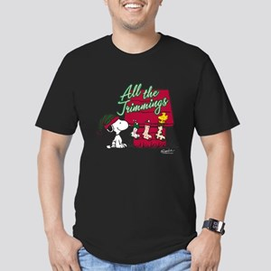 Snoopy: All the Trimmi Men's Fitted T-Shirt (dark)