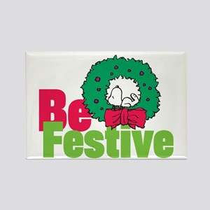 Snoopy: Be Festive Rectangle Magnet