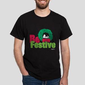 Snoopy: Be Festive Dark T-Shirt