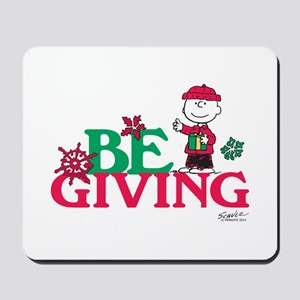 Charlie Brown: Be Giving Mousepad
