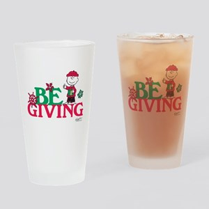 Charlie Brown: Be Giving Drinking Glass