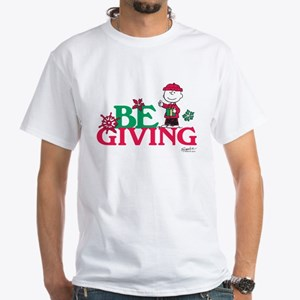 Charlie Brown: Be Giving White T-Shirt