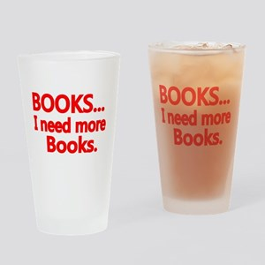 BOOKS... I need more Books. Drinking Glass