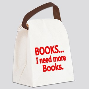 BOOKS... I need more Books. Canvas Lunch Bag