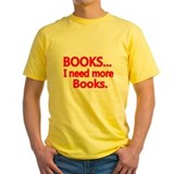 Books and reading Mens Classic Yellow T-Shirts