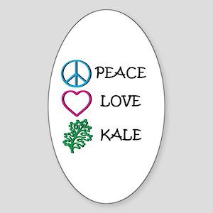 Peace Love Kale Sticker (Oval)