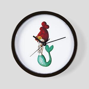 El Dia de Los Muertos Mermaid Wall Clock