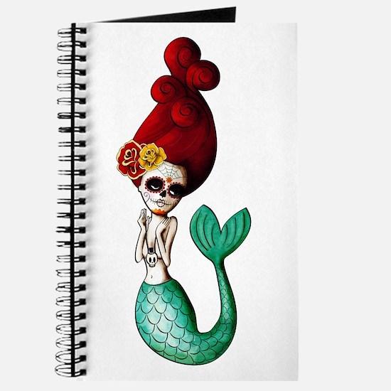 El Dia de Los Muertos Mermaid Journal