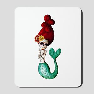 El Dia de Los Muertos Mermaid Mousepad