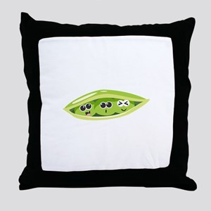 Sweet Pea Vegetbale Throw Pillow