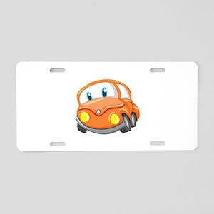 Toy Orange Car Aluminum License Plate