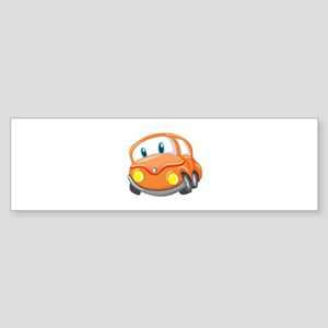 Toy Orange Car Bumper Sticker