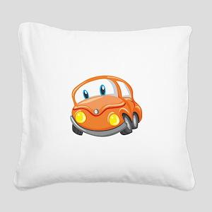 Toy Orange Car Square Canvas Pillow
