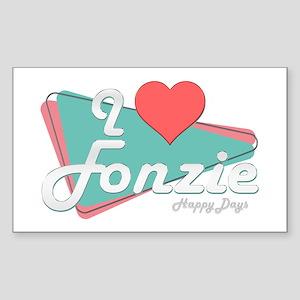 I Heart Fonzie Rectangle Sticker