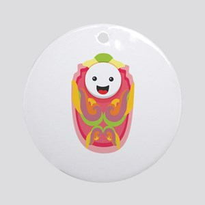 Baby Face Figure Ornament (Round)