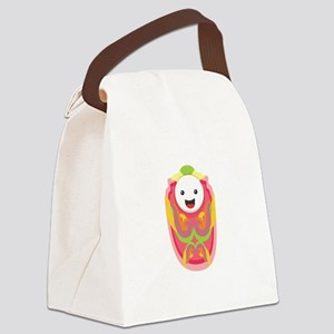 Baby Face Figure Canvas Lunch Bag