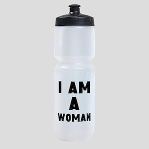 I Am A Woman Sports Bottle