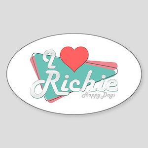 I Heart Richie Oval Sticker